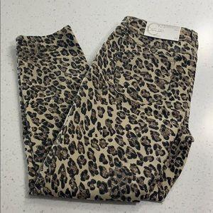 Cato leopard print skinny jeans